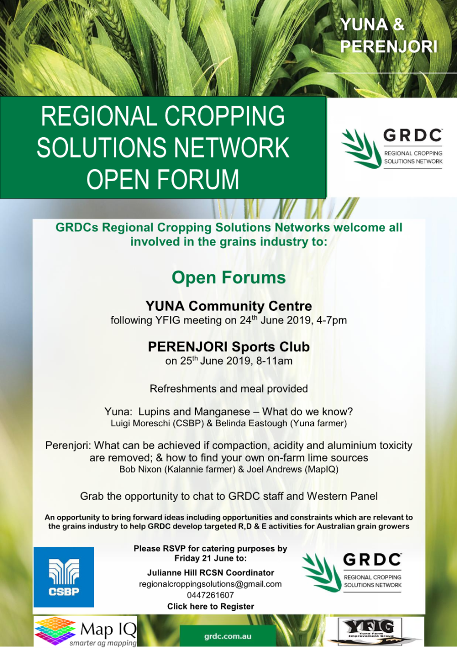 Regional Cropping Solutions Network Open Forum